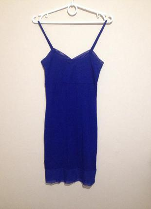 Шикарное платье asos цвета электрик со вставками сеточки