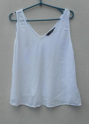 Летняя легкая блузка из вискозы без рукавов