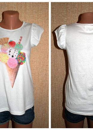 """Классная футболка с прикольным принтом """"мороженное"""""""