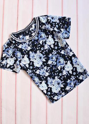 Крутая блуза в цветочный принт \ топ \ футболка