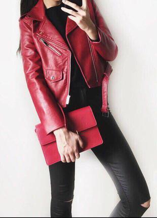 Zara курточка косуха кожаная. супер хит продаж! новая, оригинал!