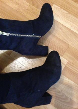 Черные ботиночки под замшу h&m
