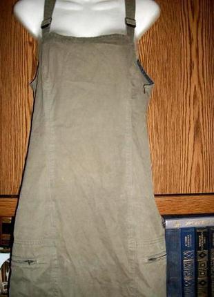 Сарафан платье в пол  mustang хаки