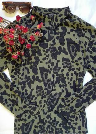 Рубашка,блуза в актуальный принт от topshop