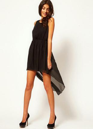 Шикарное шифоновое платье от rare londond в стиле zara,черное