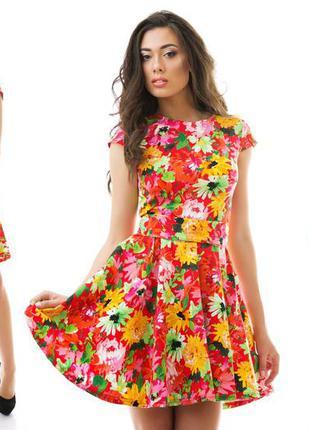 Продам коттоновое платье с цветочным принтом