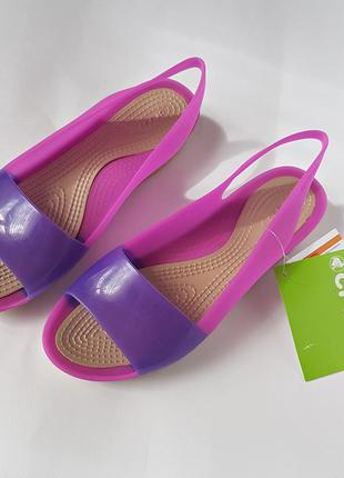 Crocs   womens colorblock flat   оригинал из сша