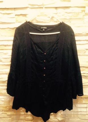 Красивая нежная романтичная блуза большого размера с элегантным кружевом