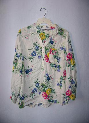 Стильная рубашка блуза в цветок