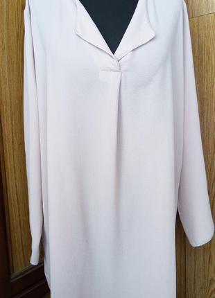 Блуза большой размер, цвет пудра