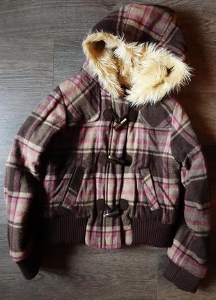 Куртка в клетку шерсть gap