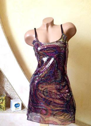 Платье в пайетки. скидка10%на2вещи!)