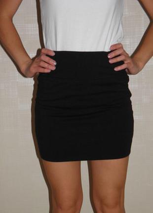 Черная бандажная мини-юбка