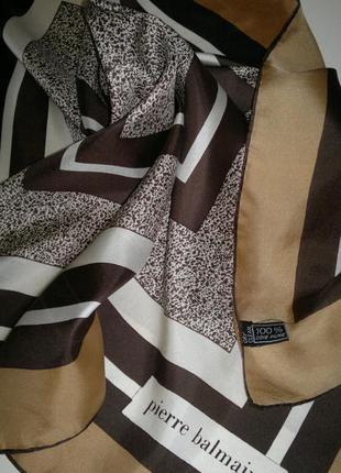 Платок,декор на сумку,натуральный шелк,pierre balmain,оригинал.