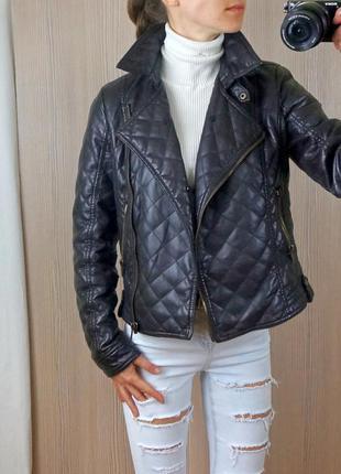 Куртка - косуха шоколадного цвета