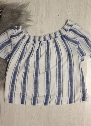 Блуза з відкритими плечима zara