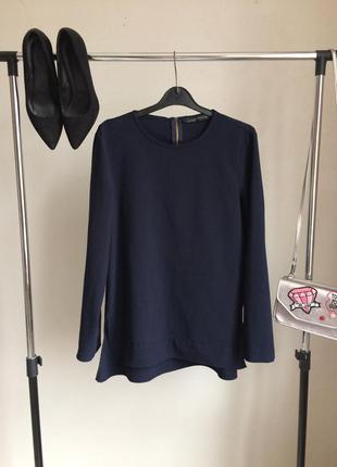Невероятная классическая блузка с разрезами по бокам и длинным рукавом