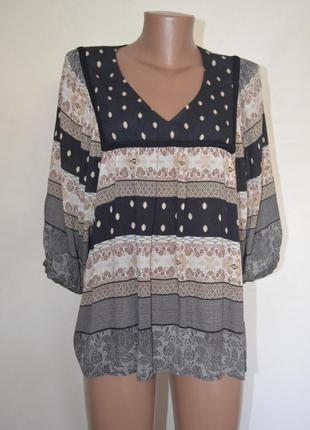 Блуза бохо принт