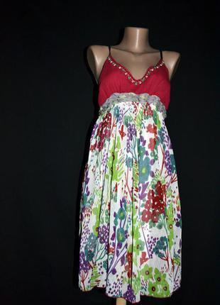 Красиве літнє платтячко, брендове, l-розмір, бренд uttam london!