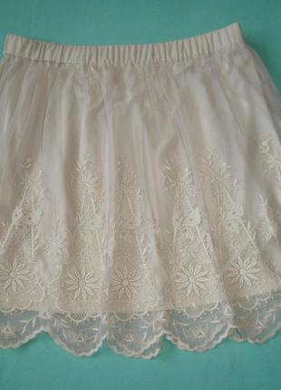 Красивая гипюровая юбка, p. s-m