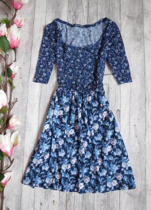 Нежное цветочное платье фирмы bershka