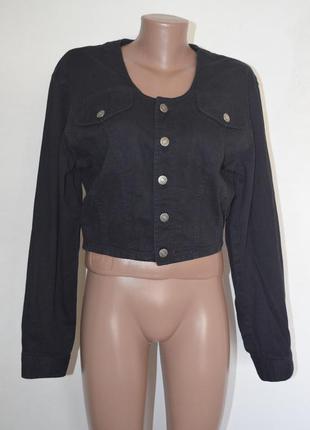 Жакет джинсовый укороченный