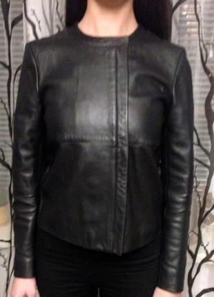 H&m натуральная кожаная куртка