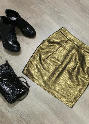Золотистая юбка - тюльпан pimkie