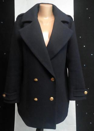 Очень крутое пальто бойфренд глубокого синего цвета