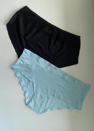40-42р. бесшовные трусики-шорты комплектом, цена за 2 шт. m&s