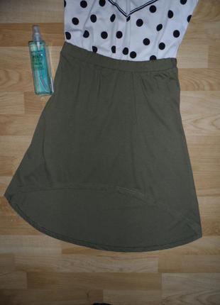 Удлинненая юбка сзади vero moda