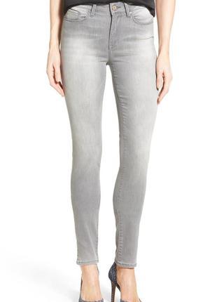Серые джинсы skinny с завышенной посадкой дешево