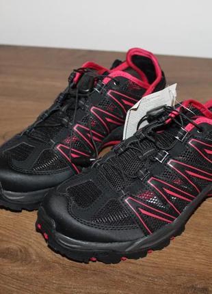 Черно-красные кроссовки salomon lakewood, 40 размер