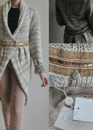 Кардиган свитер пончо