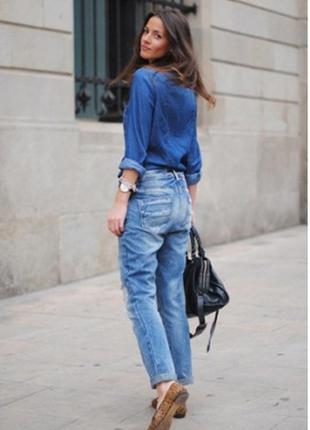 Большой выбор рубашек и блузок разных размеров джинсовая рубашка в состоянии новой