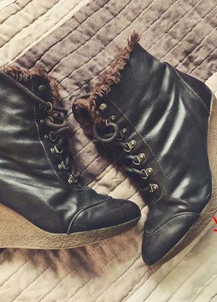 Зимові чобітки zara