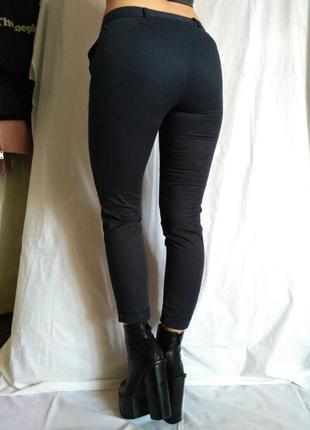 Красивые полукласические зауженные штаны темно-синего цвета от redoute