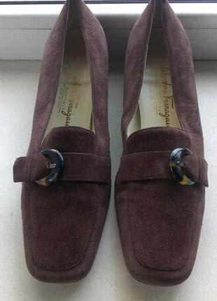 Туфли замшевые salvador feragamo