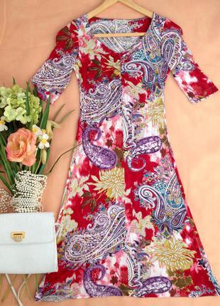 Яркое люксовое платье из вискозы etro, италия, s, 42, it 40, eur 36