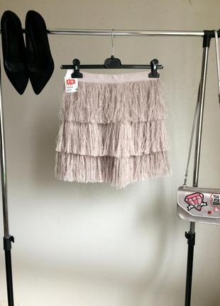 Новая крутая юбка  с перьями