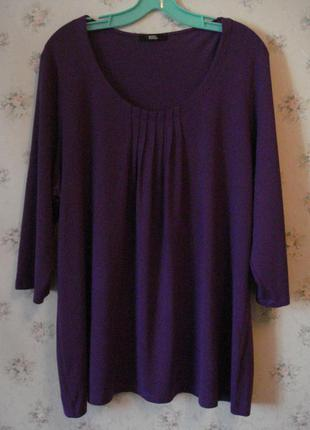 Красивая вискозная блуза большого размера