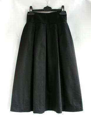 Хлопковая юбка-миди