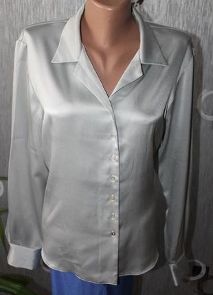 Атласная офисная блуза.14-16р.