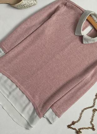 Милый свитер с шифоновым воротничком dorothy perkins