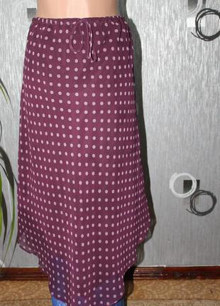 Шифоновая юбка 14р.