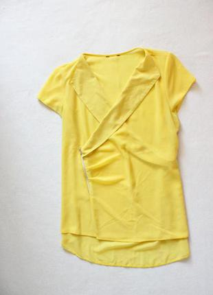 Яркая шифоновая блуза с молнией h&m