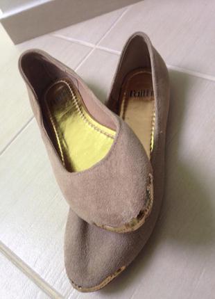 Туфли балетки замшевые новые faith 40 размер