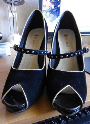 Отличные туфли с открытым носком 40 размера