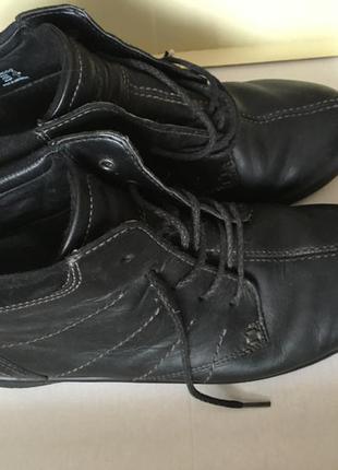 Ботинки туфли полусапожки ecco кожа