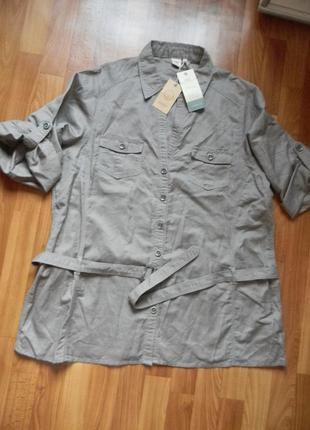 Рубашка на полную женщину 24 размер